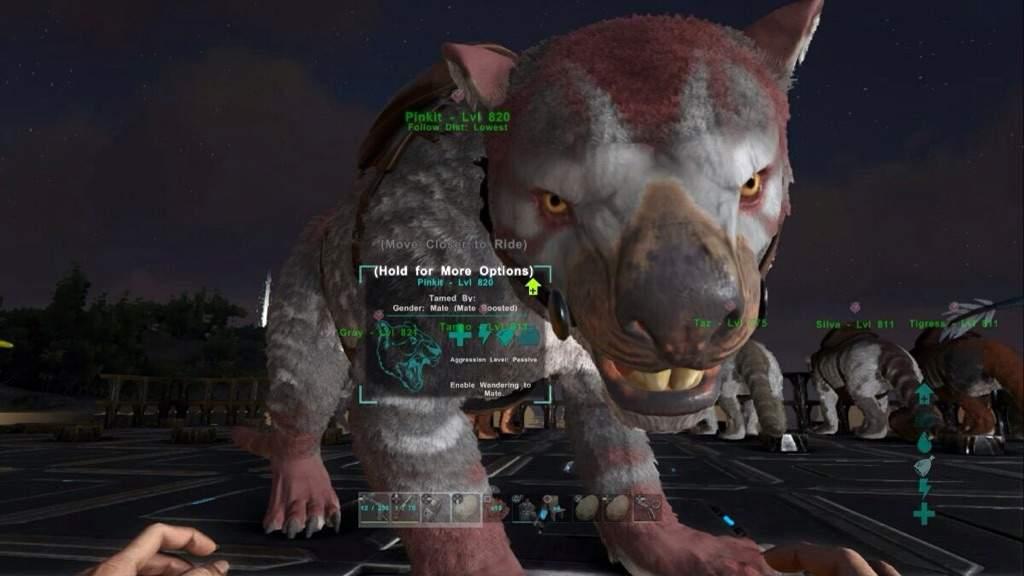 My Thylacoleo Ark Survival Evolved Amino
