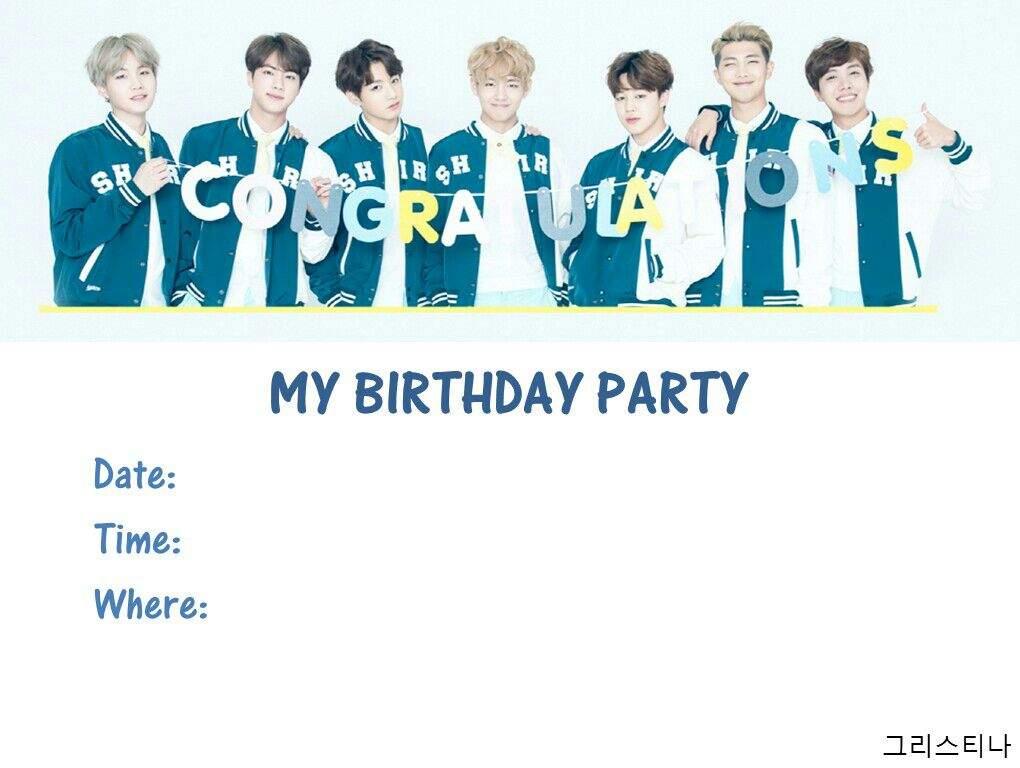 BTS BIRTHDAY INVITATION CARD😆 | ARMY\'s Amino