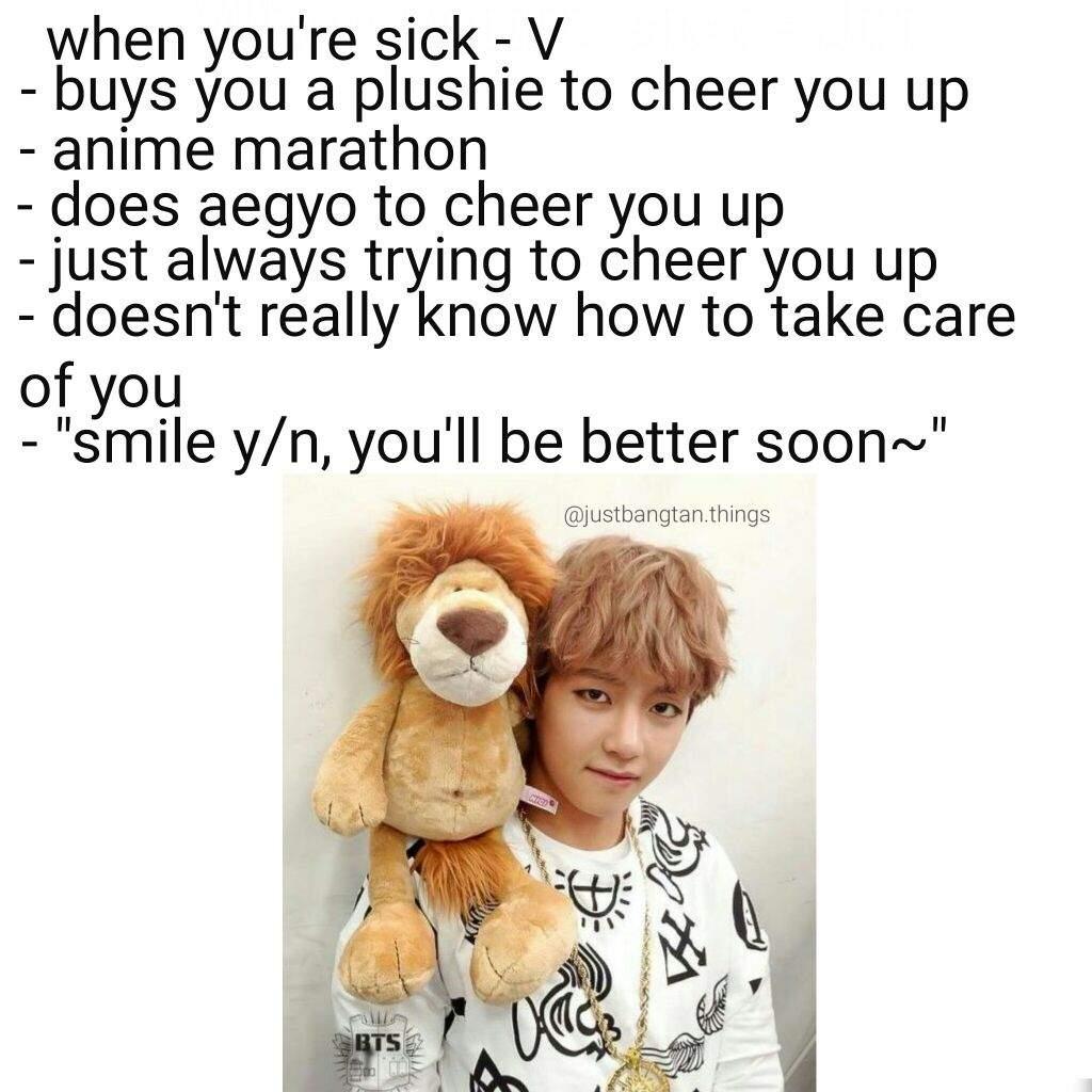 BTS V - when you're sick imagine   ARMY's Amino