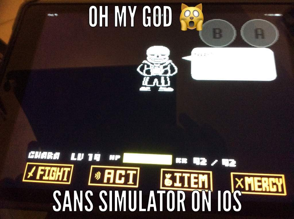 Sans simulator on Ios | Undertale Amino