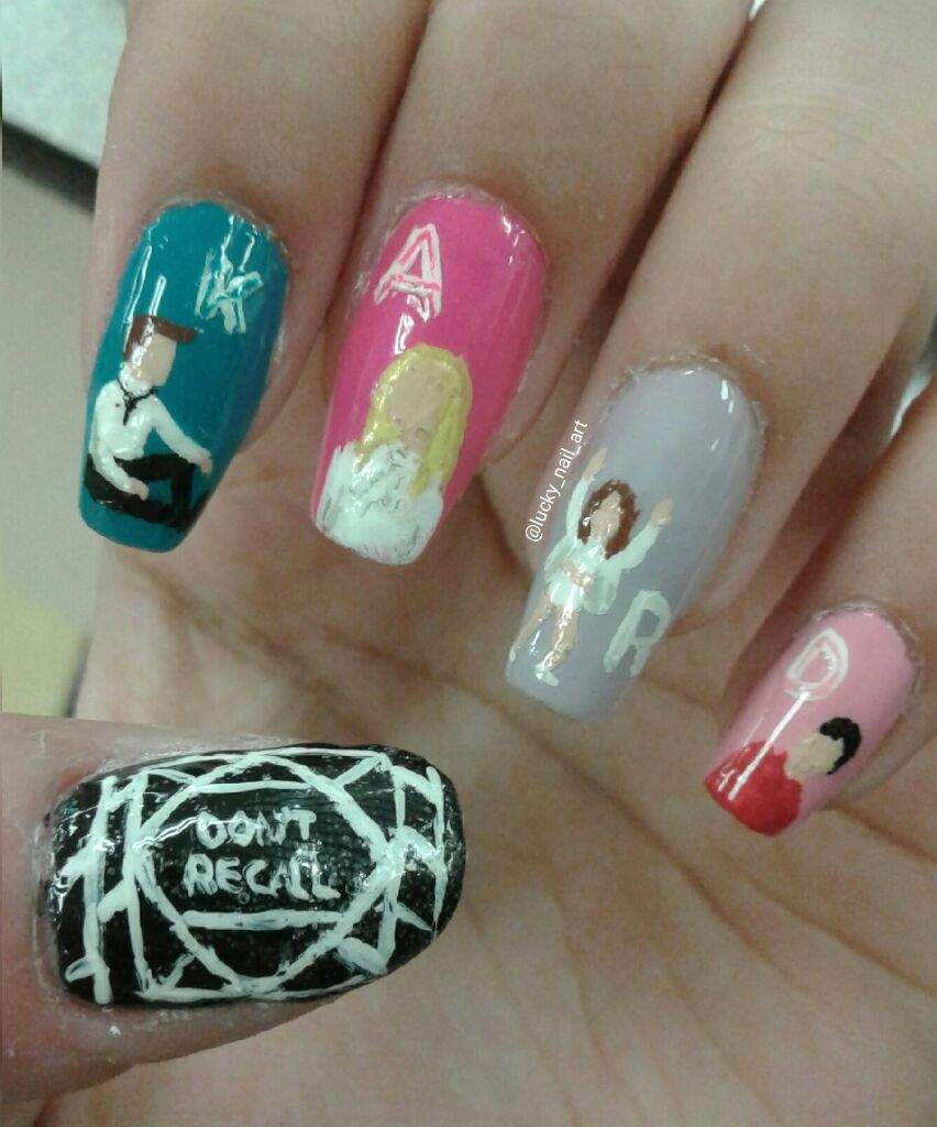 K.A.R.D. - \'Don\'t Recall\' Inspired Nail Design | Look Testing Amino