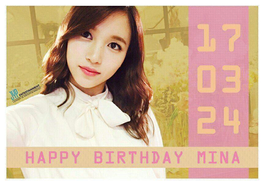 Happy birthday Mina #HappyMinaDay #TWICE | K-Pop Amino