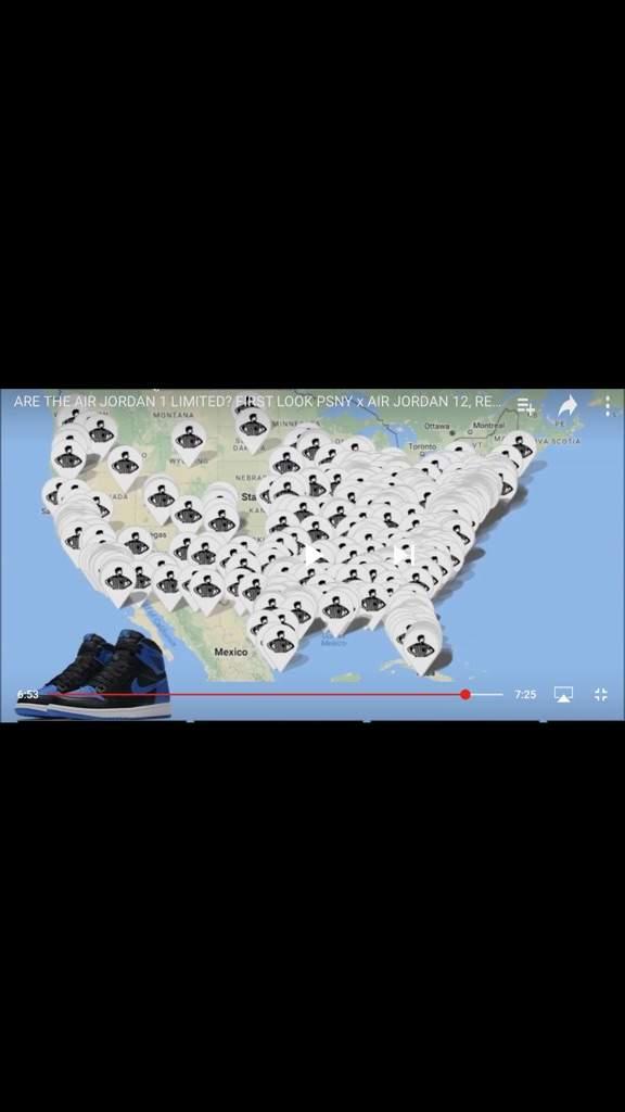 Air jordan 1 royal footlocker & foot action release map ...
