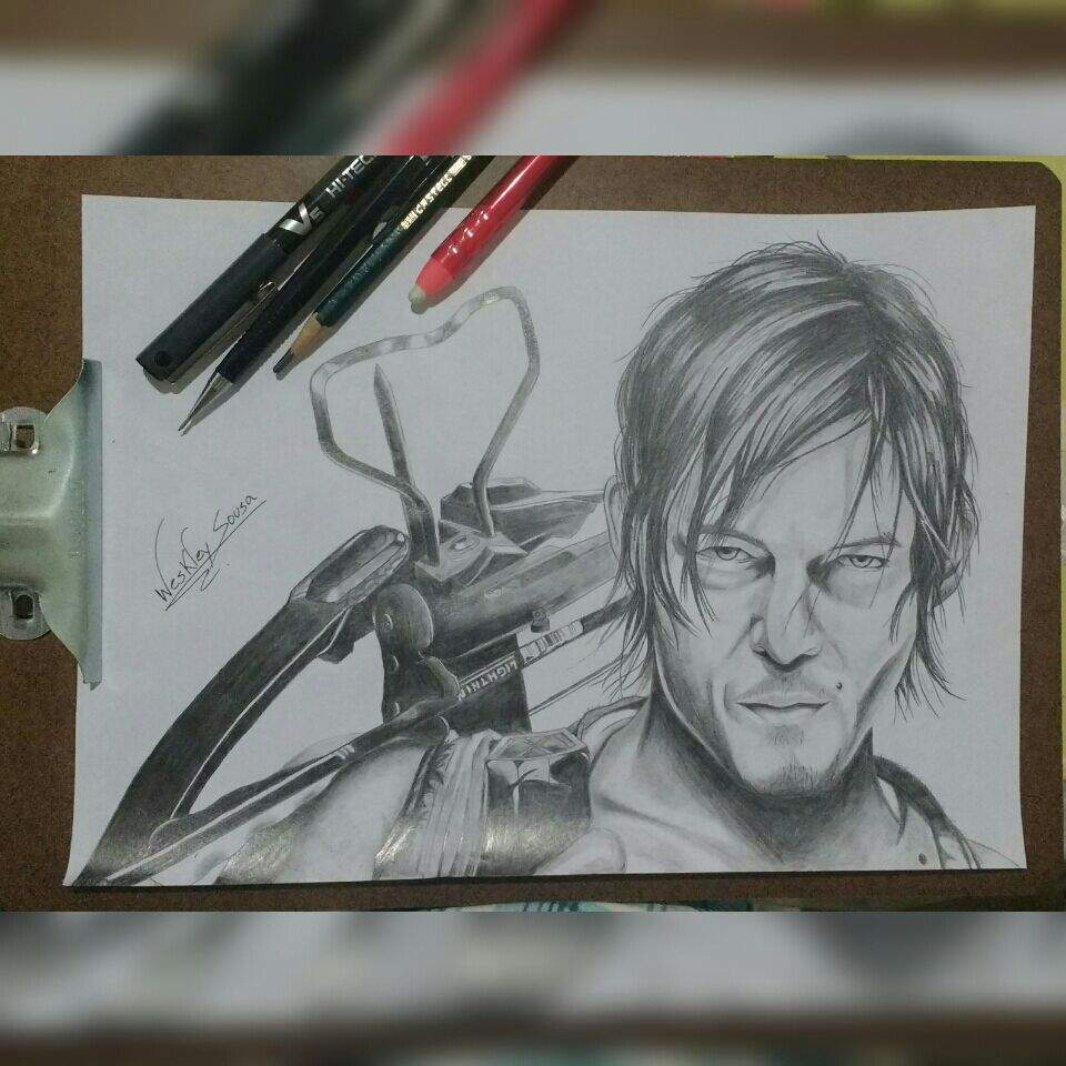 Desenho Do Daryl Dixon The Walking Dead Desenhistas Do