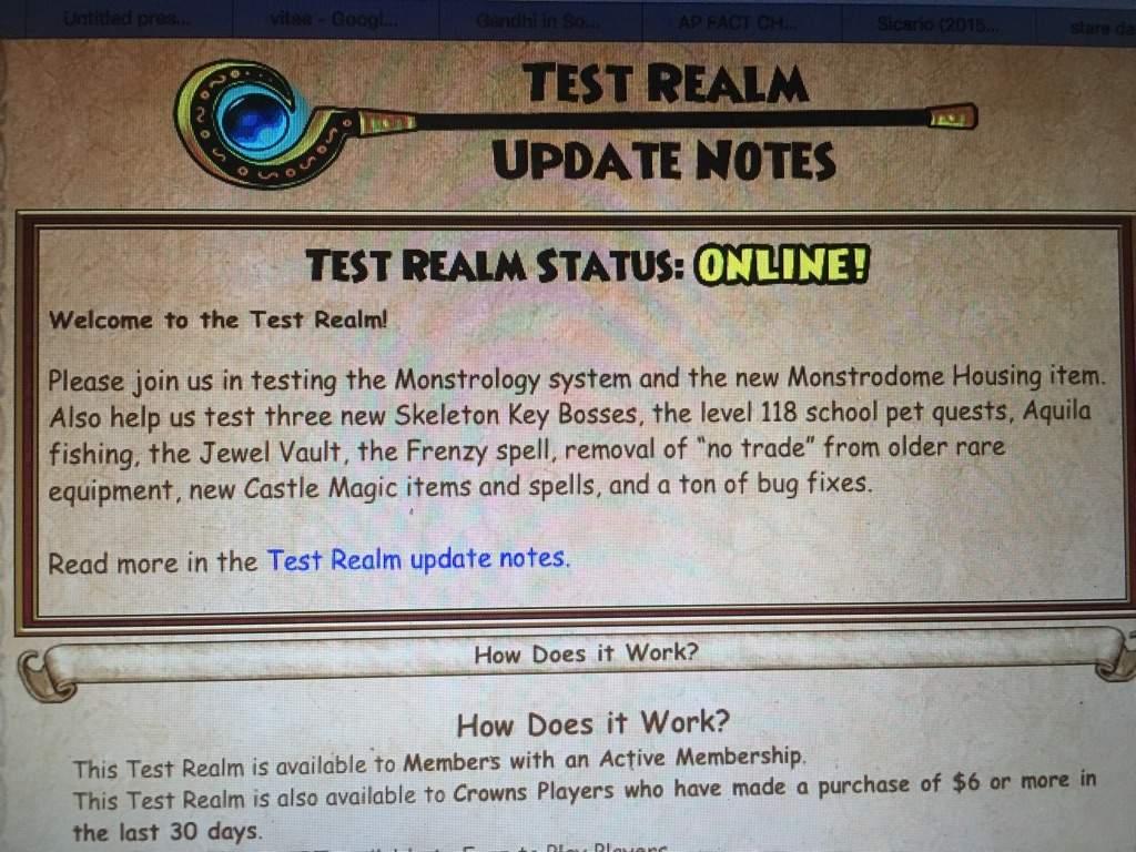 Test Realm? | Wizard101 Amino