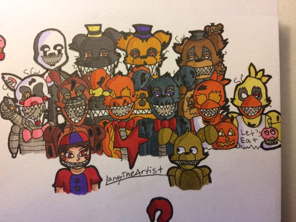 All Fnaf 4 Characters