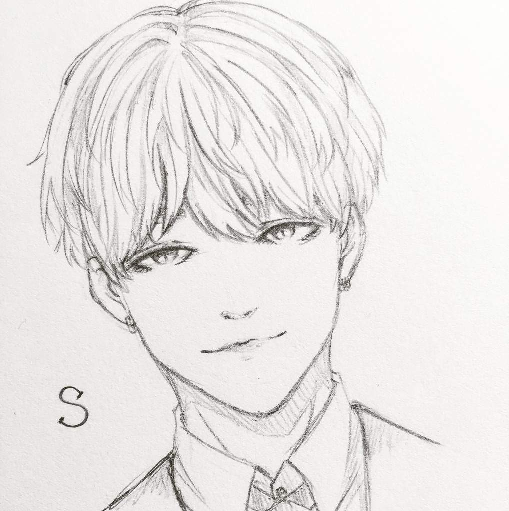 Bts Drawing Easy Step By Step