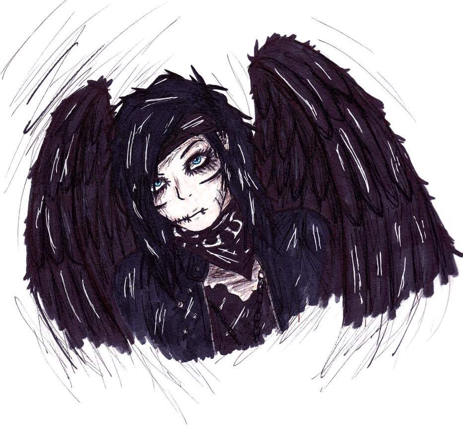 Andy biersack fallen angel emo artworks amino thecheapjerseys Image collections