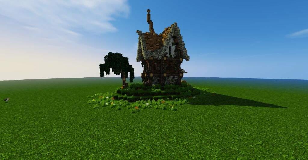 Rustic House Design Minecraft Rumah