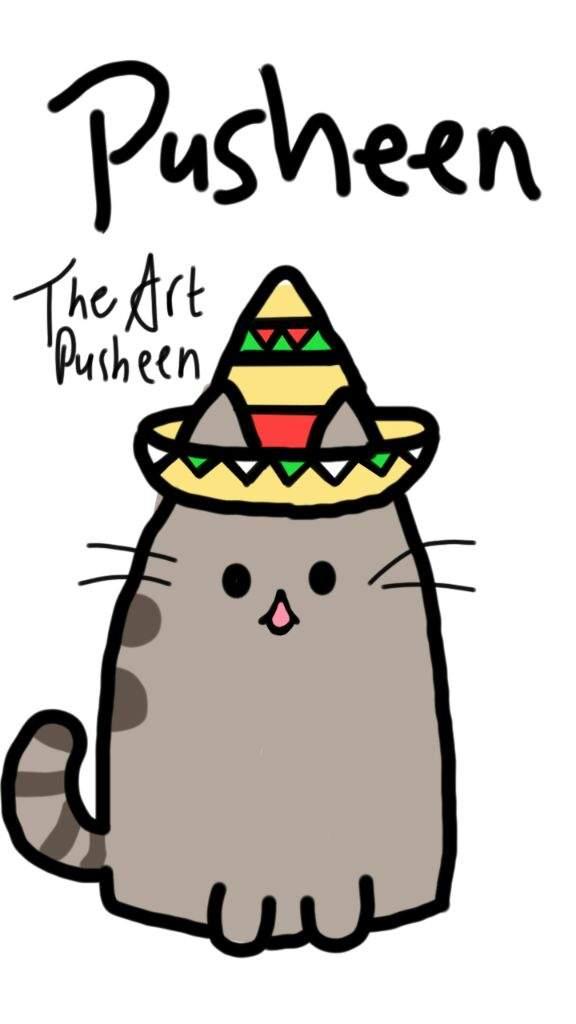 how to draw pusheen cat