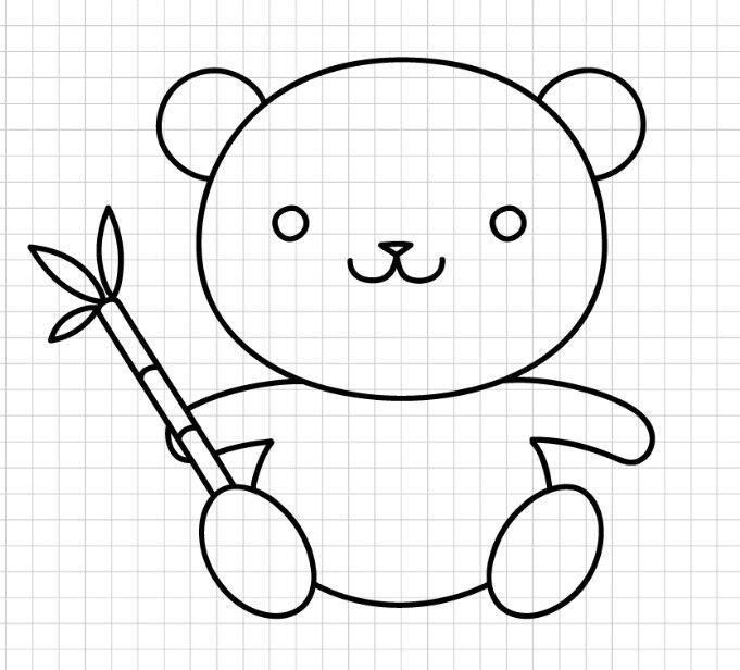 Como Desenhar Um Panda Kawaii Line Amino