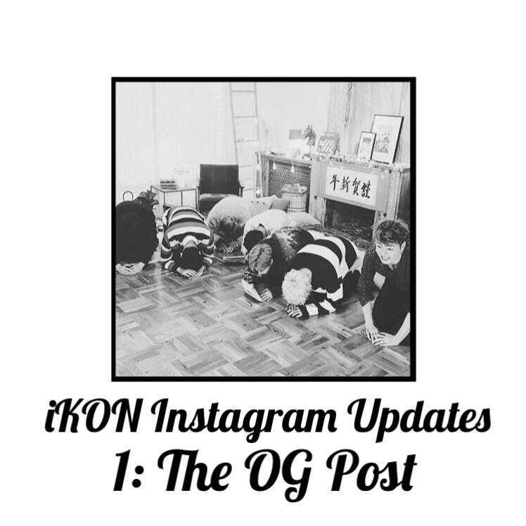 iKON Instagram Updates 1 • 😍 | K-Pop Amino