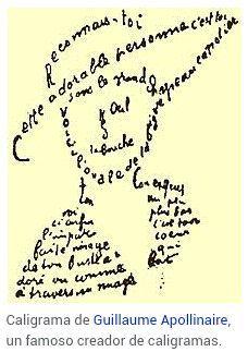 """Resultado de imagen de como se llaman los versos con imagenes y formas con sus letras?"""""""