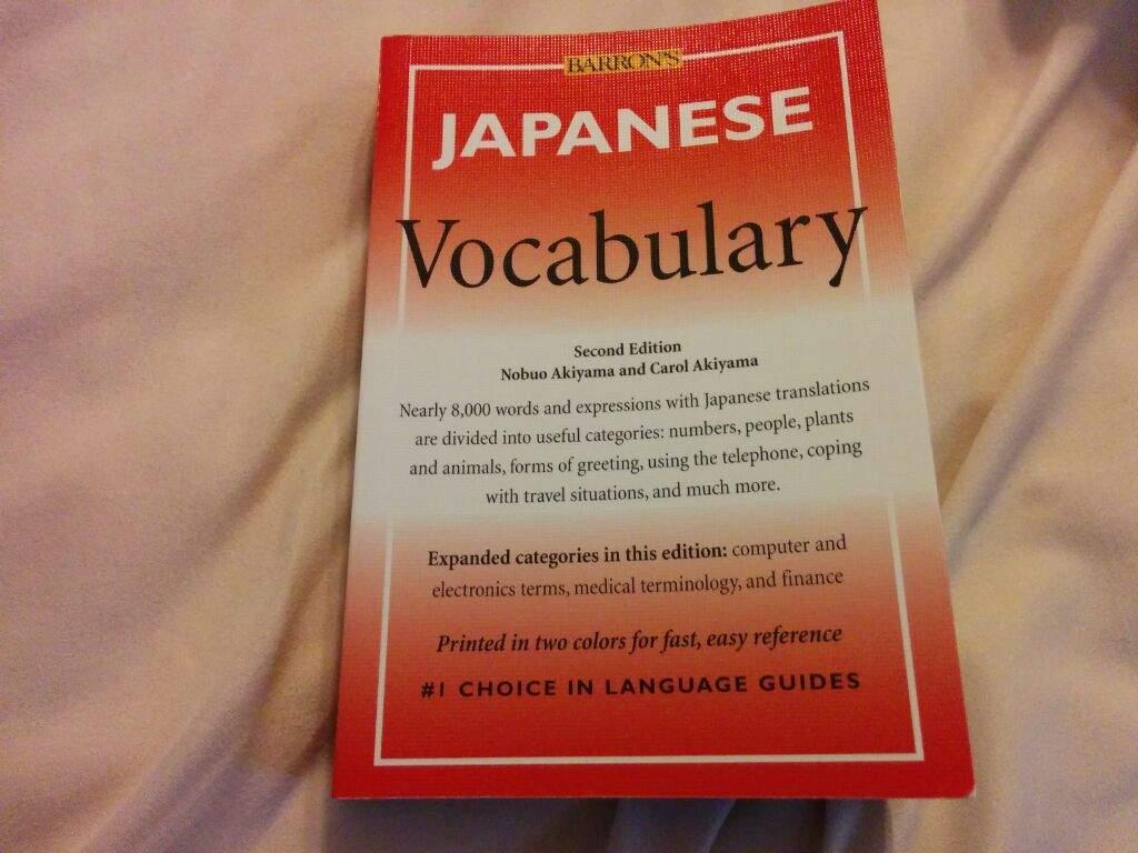 Barrons Japanese Vocabulary Japan Amino