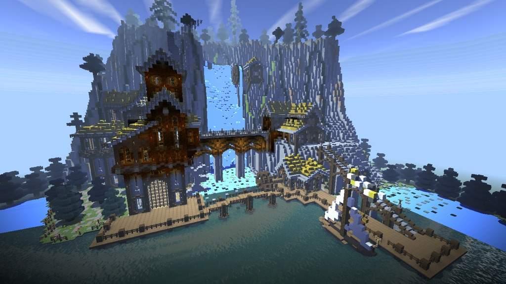 Mountainside Mansion Minecraft Amino