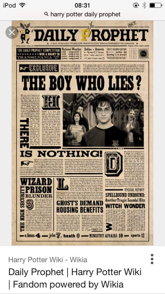 image about Harry Potter Daily Prophet Printable identify Day by day prophet Harry Potter Amino
