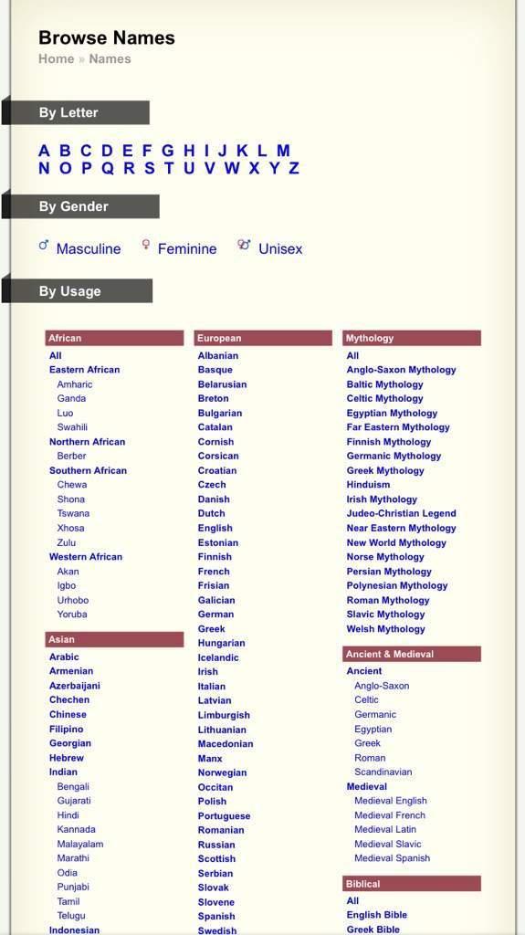 A Guide To Names | Wiki | OCAmino Amino