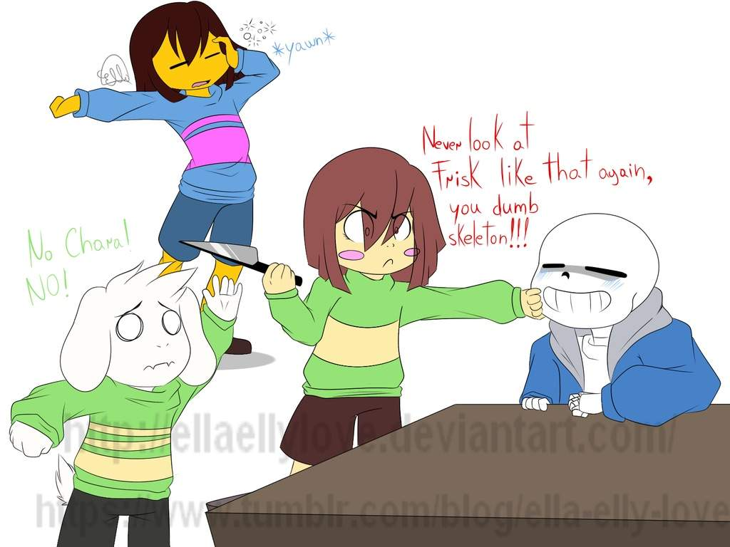 Ask Sans Chara Frisk And Asriel Undertale Amino
