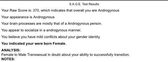 Test Thingy | Gender Amino Amino