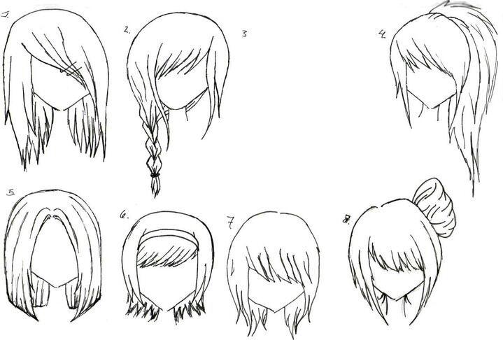 Рисовать аниме волосы