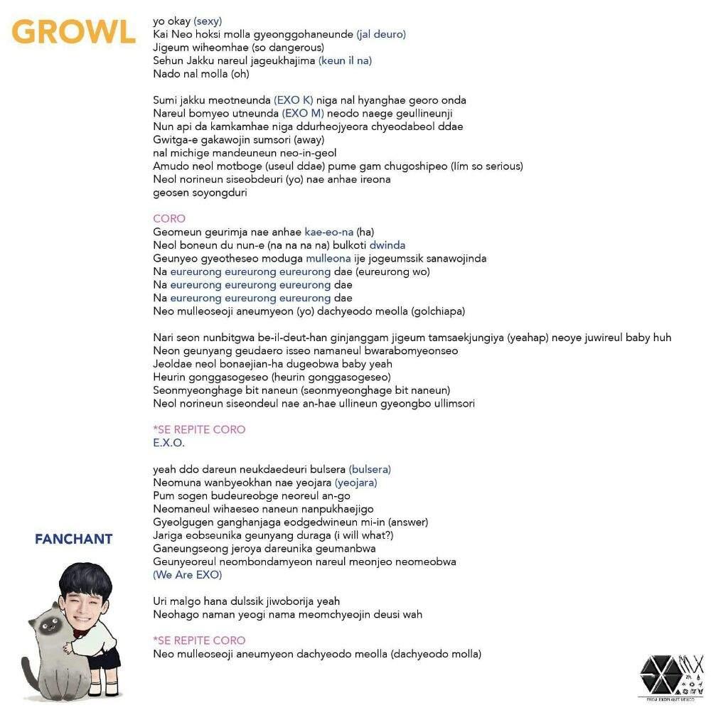 Exo Fanchant Names Order - exo 2020