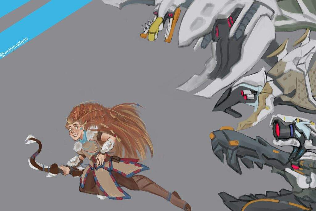 Aloy And The Machines Art Amino