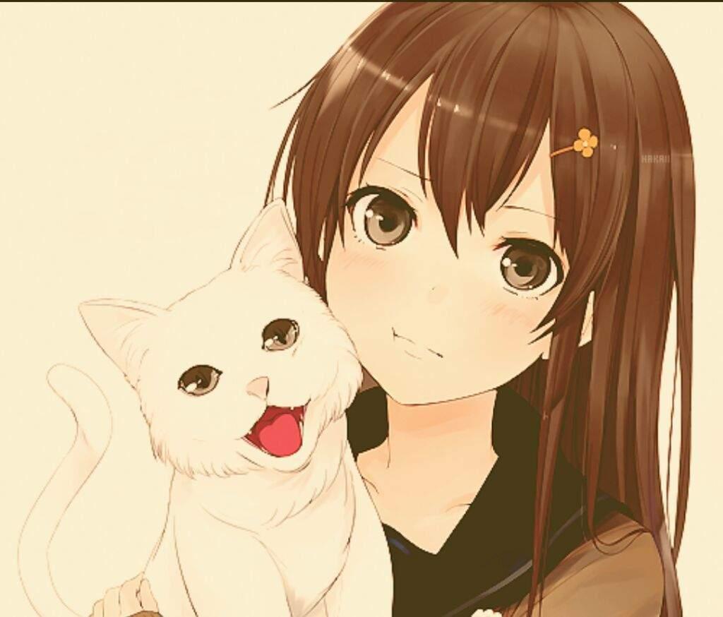 девушки кошки фото аниме