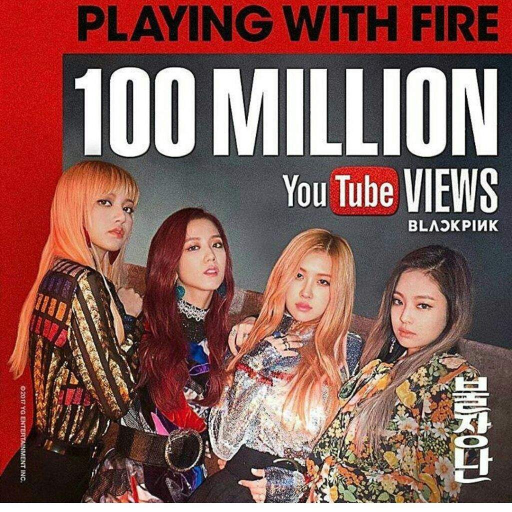 Blackpink Playing With Fire 100m Views K Pop Amino
