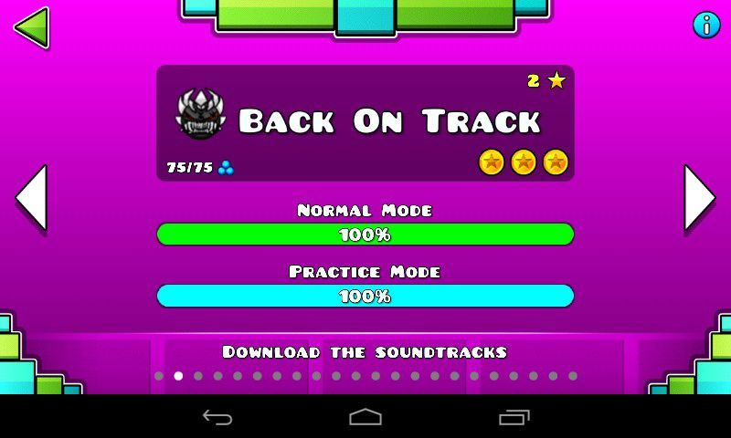 Back On Tracks Original Difficulty Geometry Dash Amino