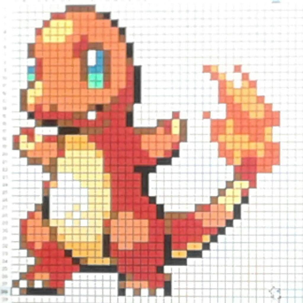 Charmander Pixel Art Pokemon Amino