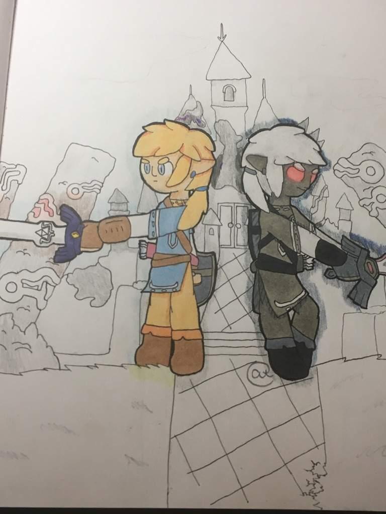 Legend Of Zelda Breath Of The Wild Link And Dark Link Fanart Zelda Amino