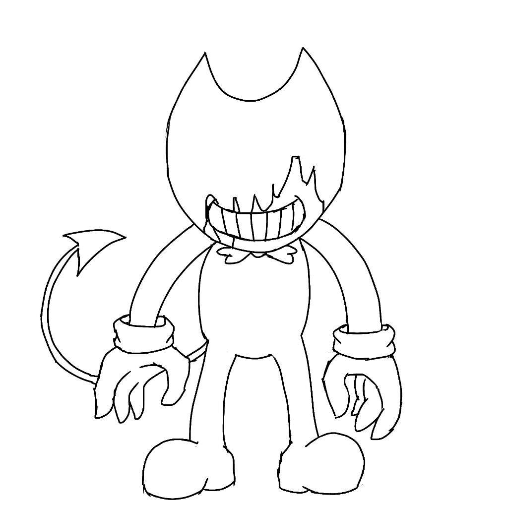 The ink monster bendy and the ink machine amino for Bendy and the ink machine coloring pages