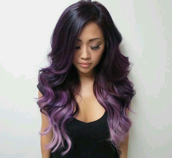 Color de pelo fantasia para morenas