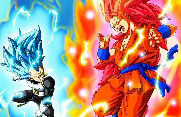 Super Saiyan Blue 3 Vegeta Vs God Goku
