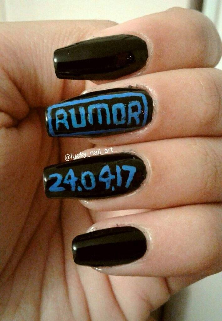 Kard Rumor Inspired Nail Design Look Testing Amino