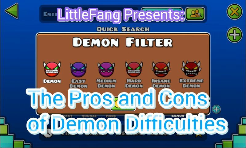 The Pros And Cons Of Demon Difficulties Geometry Dash Amino