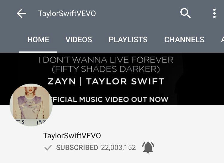 Taylor reached 22M subscribers on YouTube   Swifties Amino