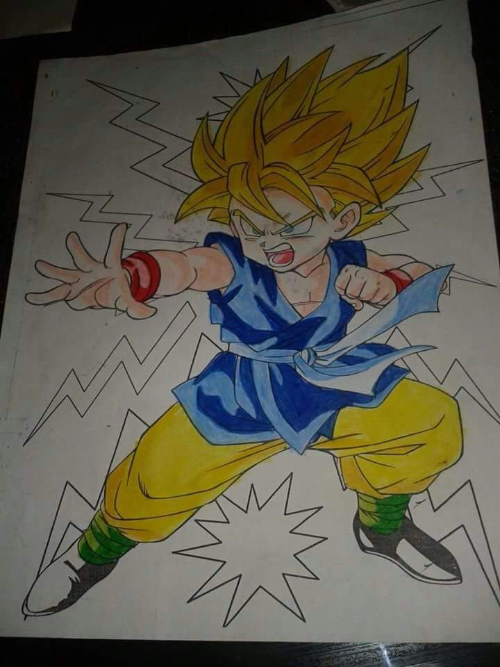 Dibujos dragon ball z dragon ball espa ol amino for Chambre dragon ball z