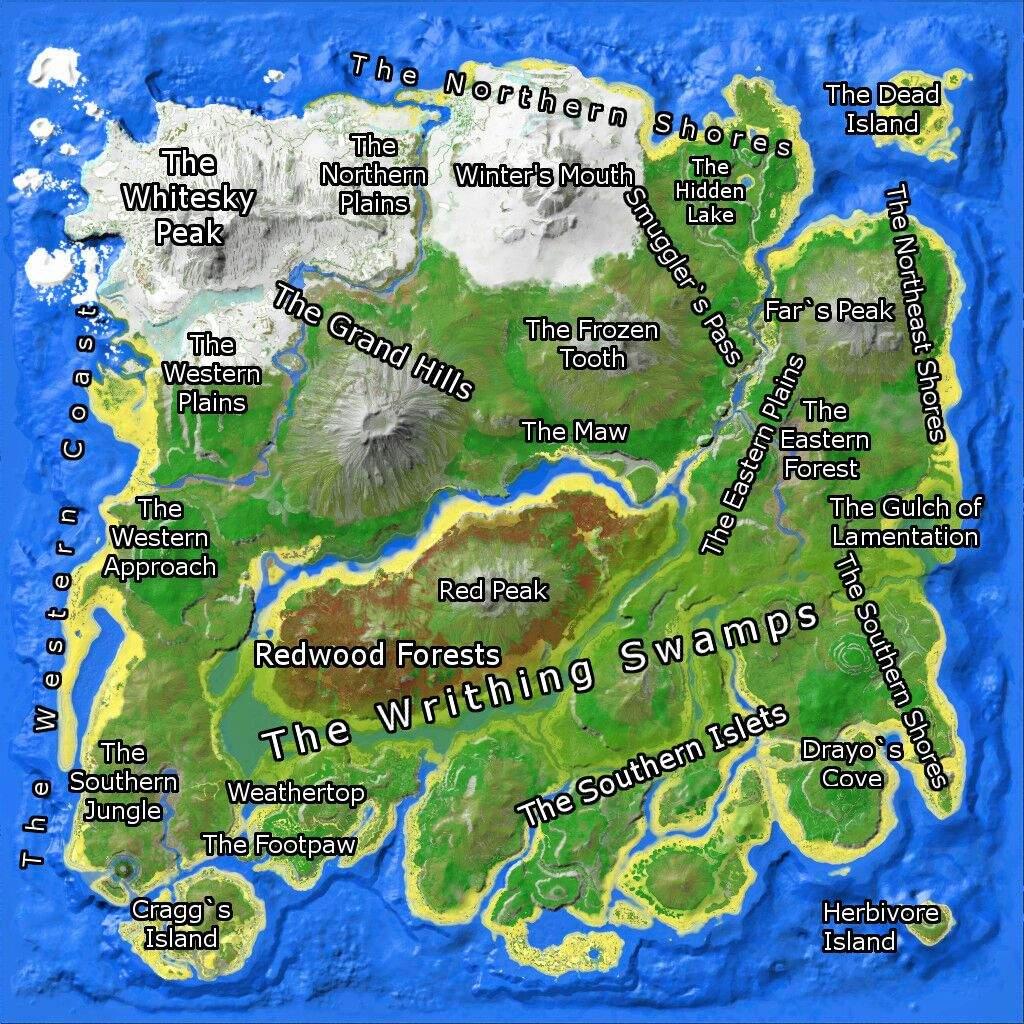 Ark Map The Island Dinosaurs