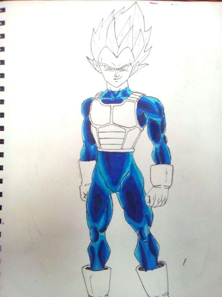 Dibujando A Vegeta Ssj Dios Rojo. | DRAGON BALL ESPAÑOL Amino