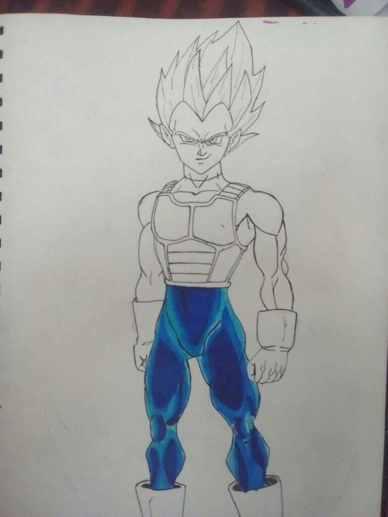 Dibujando A Vegeta Ssj Dios Rojo Dragon Ball Espanol Amino