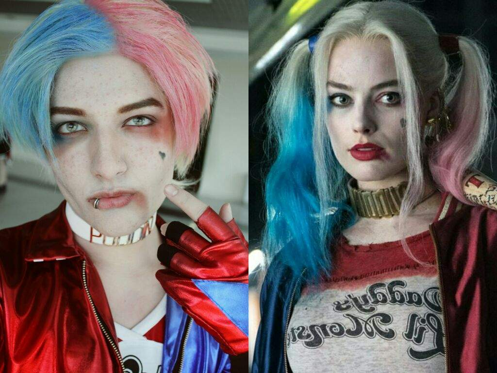 Male harley quinn makeup