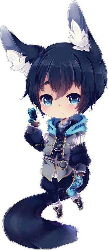 Anime Chibi Wolf Boy
