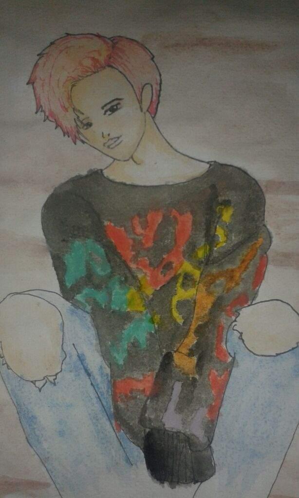 Dibujo De Jimin Btspintado Con Acuarelas K Pop Amino