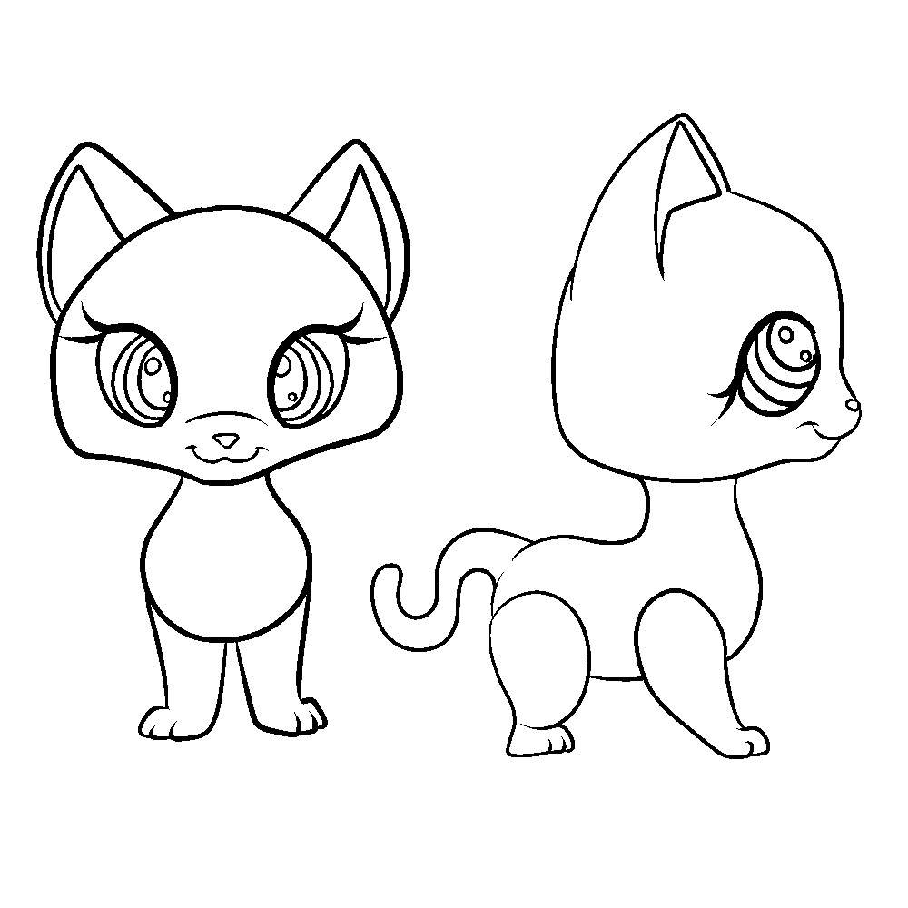 Lps Short Hair Cat Base