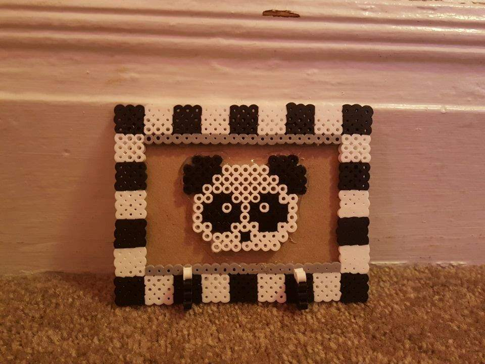 Perler Bead Panda Picture Frame Beads And Pixels Amino Amino