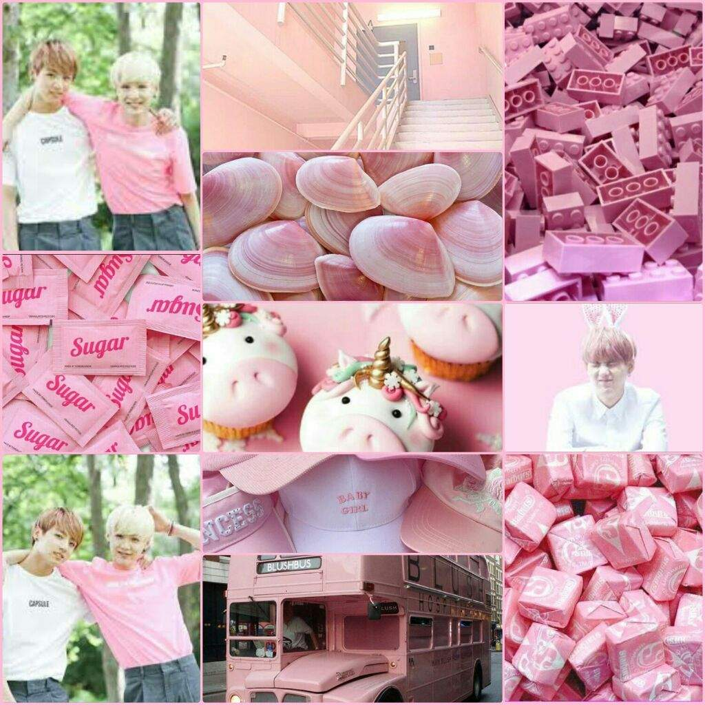 Yoonkook light pink aesthetic | BTS ARMY's Moodboards Amino