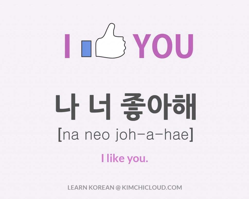 Do i like you in korean