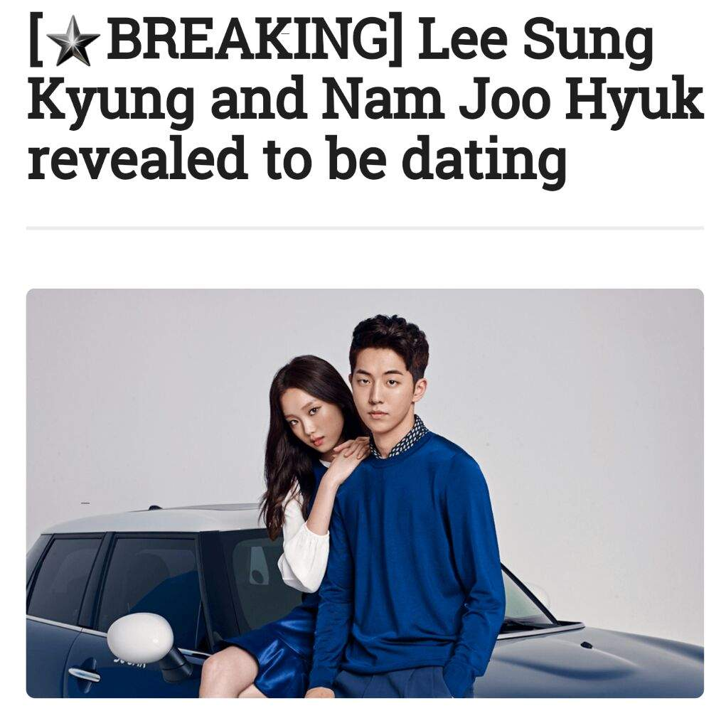 lee sung kyung and nam joo hyuk reportedly dating speed dating in white plains ny