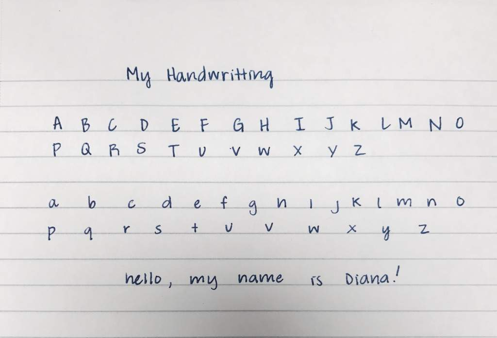 Id Like To Think My Handwriting Is Pretty Neat Ive Changed Writing Style A Lot And This Basically The Final Product